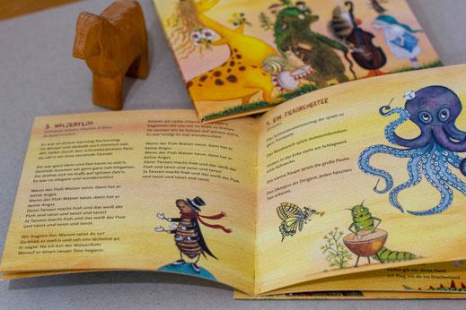 """KlingBim Kinderlieder CD """"Wenn der Floh Walzer tanzt... Fantastsiche Tierlieder"""", illustriert von Brigitte Baldrian"""