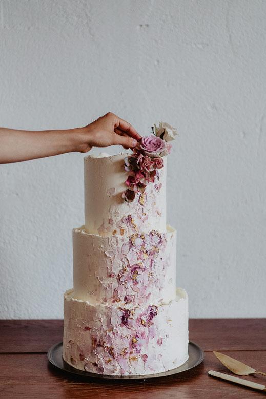 Torte Hochzeitstorte Saarland elegant