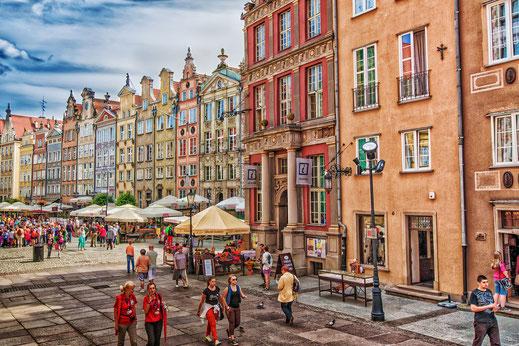 Danzig - Am Langen Markt © Jutta M. Jenning