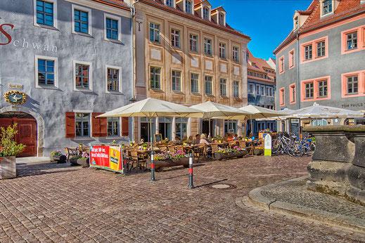 Altstadt in Pirna-Café ♦ © Jutta M. Jenning ♦ www.mjpics.de