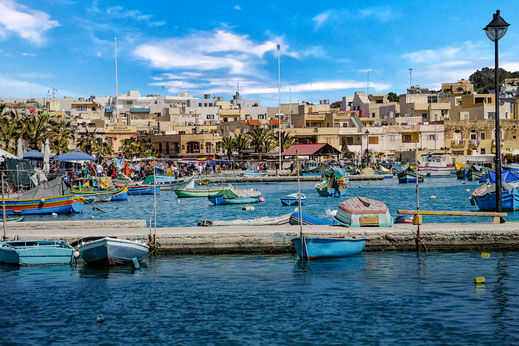 Am Hafen in Marsaxlokk Malta