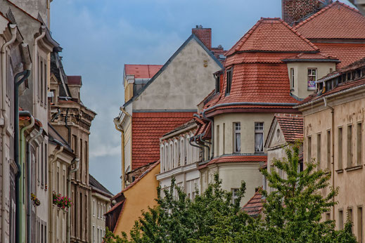 Häuserfassaden und Dächer in Görlitz
