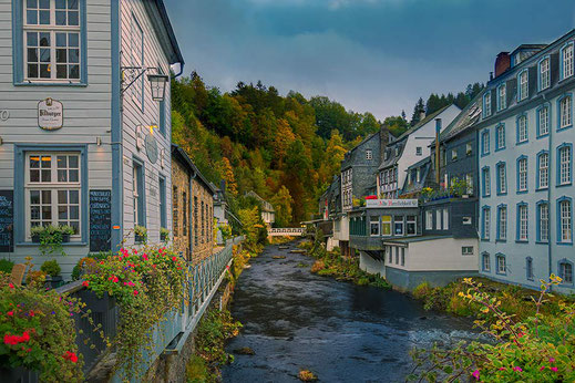 Blick über die Rur in Monschau © Jutta M. Jenning ♦ mjpics.de