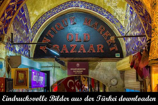 Old Bazaar in Istanbul-Eingang-Reisefotografie Türkei