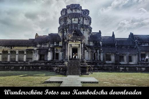 Tempelanlage in Angkor Wat-Reisefotografie Kambodscha