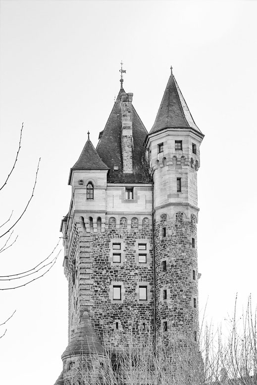 Nibelungenturm in Worms monochrome hochkant