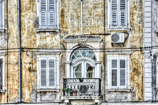 Venezianischer Balkon in Piran © Jutta M. Jenning ♦ mjpics.de
