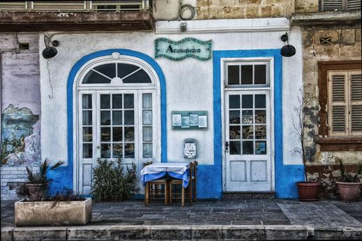 Ansicht eines restaurants in Marsaxlokk Malta © Jutta M. Jenning mjpics