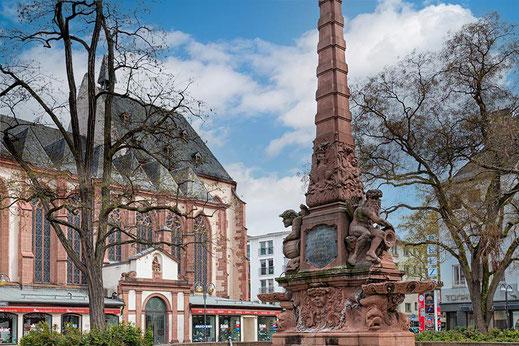 Liebfrauenbrunnen in Frankfurt auf dem Liebfrauenberg © mjpics.de