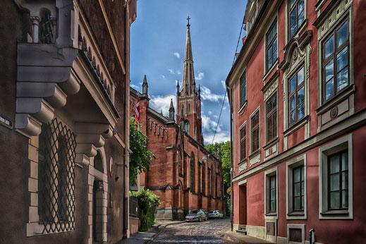 Riga-Altstadt mit Blick auf die Kathedrale