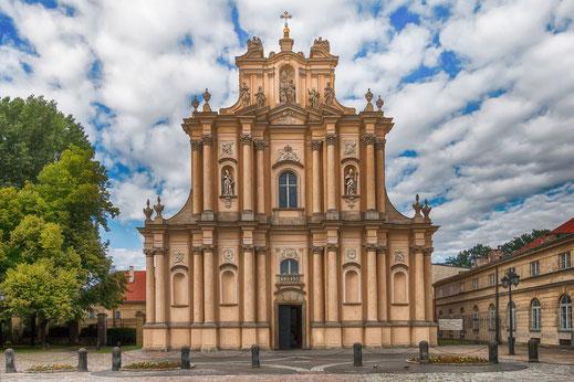 Sankt Josephs Kirche in Warschau-Frontalansicht © Jutta M. Jenning