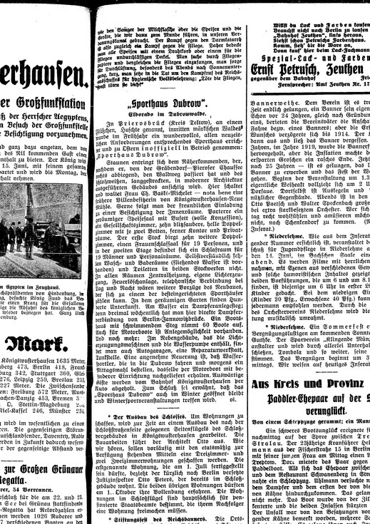 [Quelle: Staatsbibliothek zu Berlin, Königswusterhauserner Zeitung 1929]