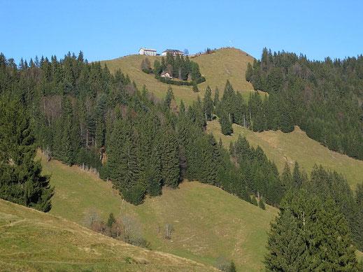 Anblick Hundwiler Höhi, Wanderberg, Appenzell, Urnäsch, Gonten, Panoramarestaurant