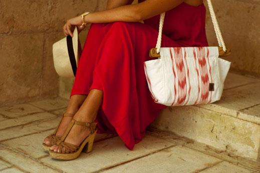 Tonguebag_red beach bag