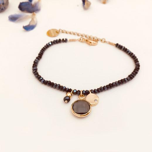 gwapita bracelet marcel perle montana doré pierre