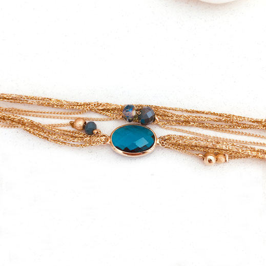 jules gwapita bracelet pierre bleu