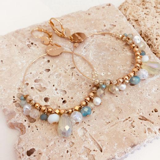 gwapita boucles d'oreilles frous frous froufrous creation design perles raffiné été