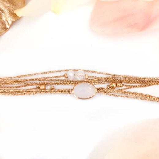 bracelet gwapita bijoux  jules blanc doré or fin femme