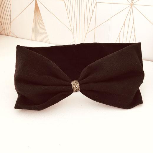 headbands noir fashion coiffure gwapita bandeau cheveux coton doré