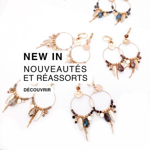nouveatués réassorts bijoux gwapita new in collection hiver boucles d'oreilles bracelets colliers bague