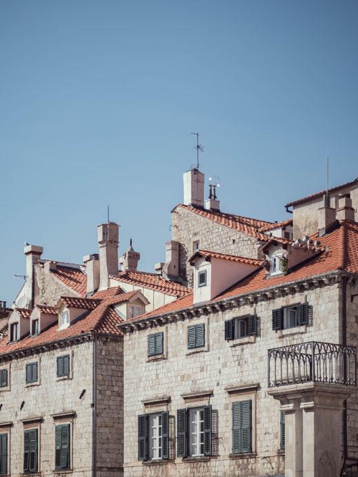 Maisons  à toits oranges Dubrovnik