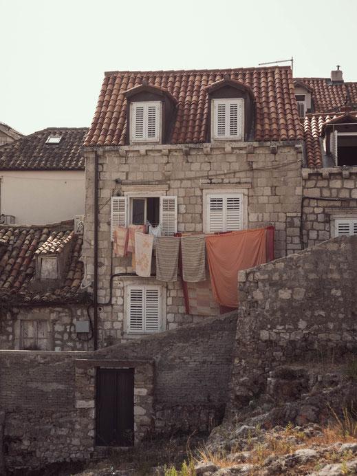 Linge qui sèche à Dubrovnik