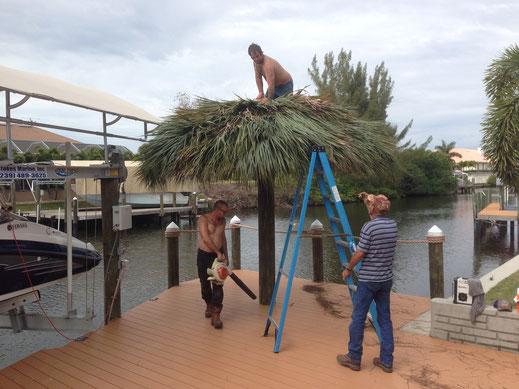 Tiki-Hut kurz vor Fertigstellung