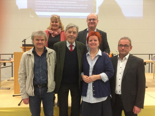 v.l.n.r: Georg Decker, Andrea Dornisch, Josef Göppel, Norbert Schäffer, Barbara Fuchs, Carsten Hüglin