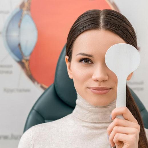 Eine optometrische Augenunteruschung liefert uns wichtige Informationen über den Zustand Ihrer Augen.