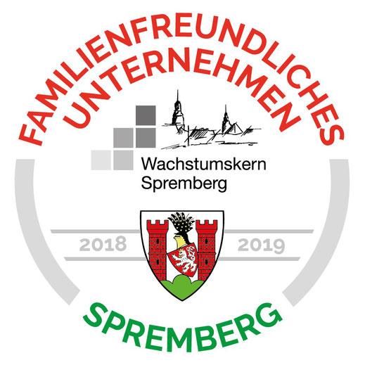 Logo: Familienfreundliches Unternehmen im Regionalen Wachstumskern Spremberg