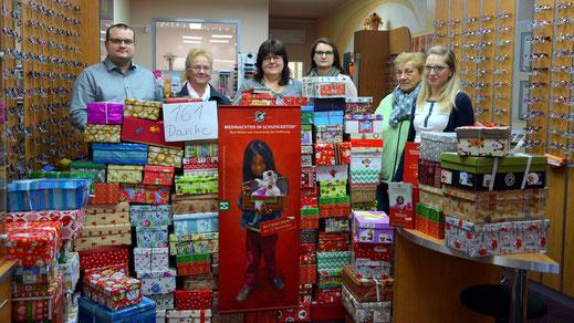 161 Päckchen - Aktion Weihnachten im Schukarton in Spremberg