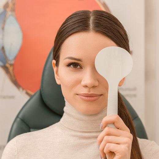 optometrische Augenuntersuchung zur persönlichen Gesundheitsvorsorge