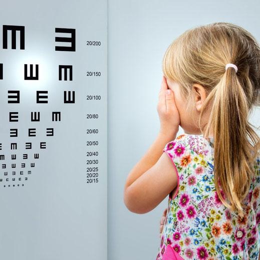 optometrische Sehanalyse und Ermittlung der freien Sehschärfe