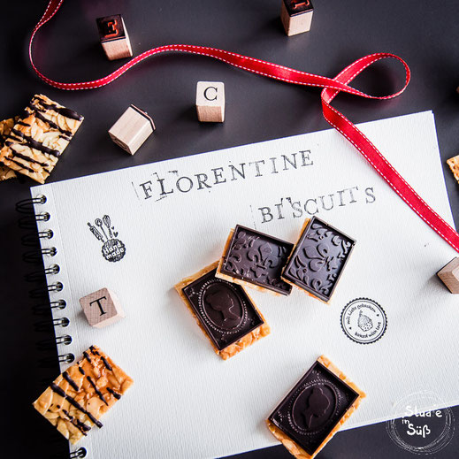 Rezept für Florentiner mit selbstgemachter Zartbitterschokolade