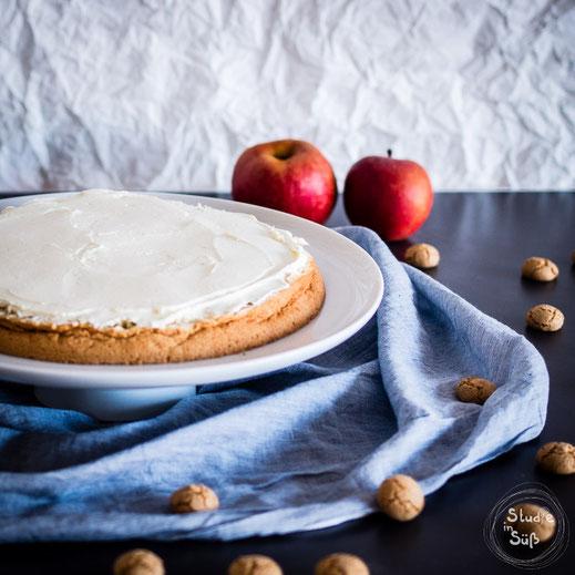 Rezept für Apfeltorte mit Mascarponecreme