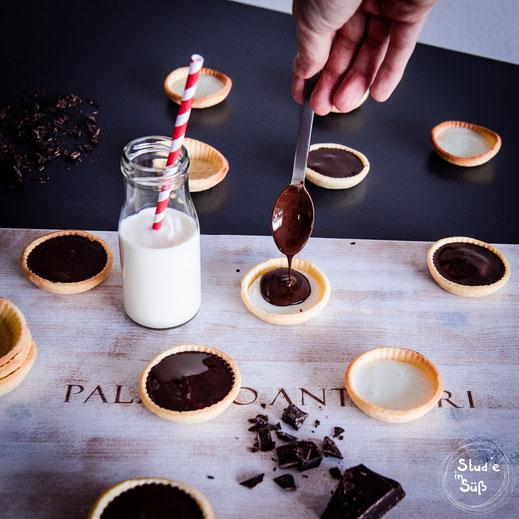 Rezept für Schokoladenkekse mit Milchcreme Füllung