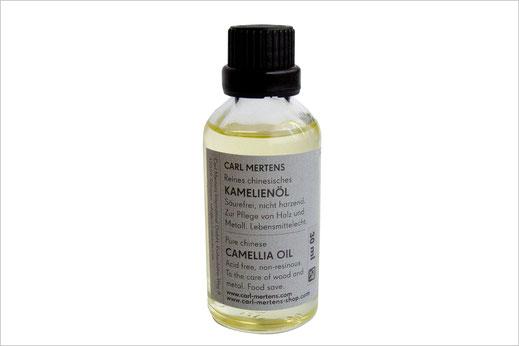 Reines Kamelienöl, im Set mit Messer als 30 ml - Flasche