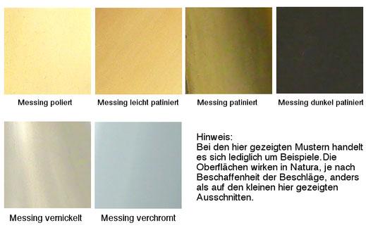 Lieferbare Oberflächen - nachguss.de