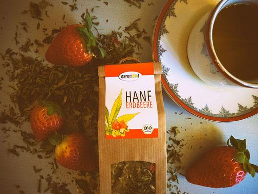 Hanfblüten-Tee als Alternative zu Kaffee oder auch als Einschlafhilfe kaufen