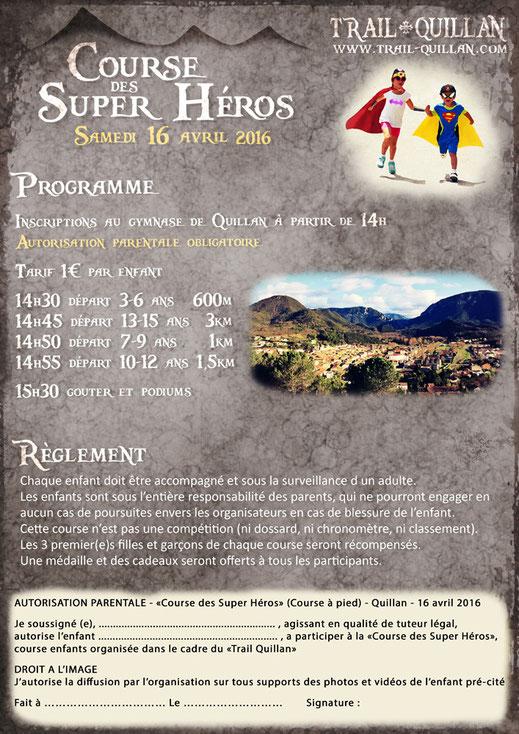 Course enfants - Trail Quillan 2016