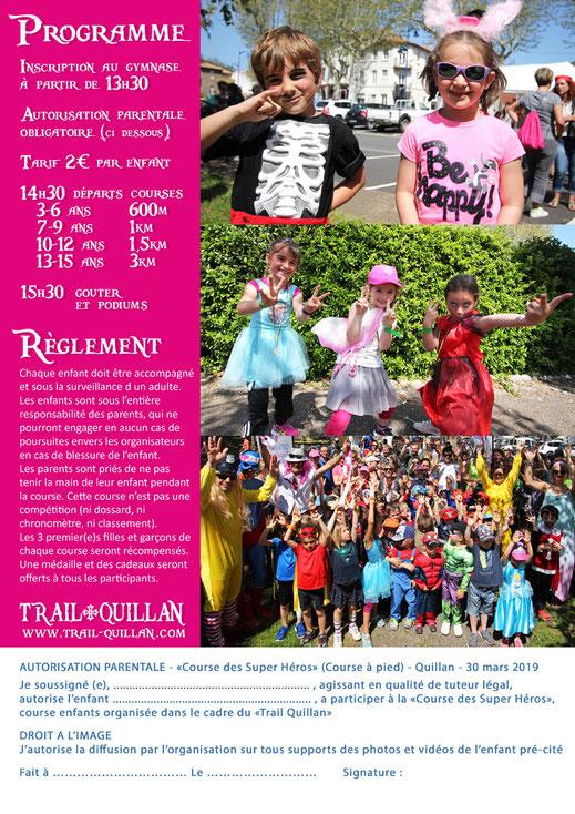 Course enfants - Trail Quillan 2019