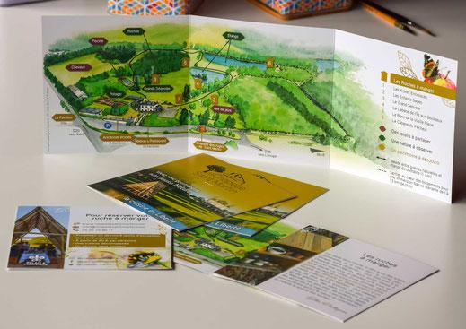 dépliant, éco-tourisme, parcours pédagogique, nature, tourisme vert, sentier