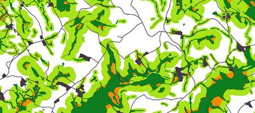 géomatique, trame verte et bleue, geotraitements