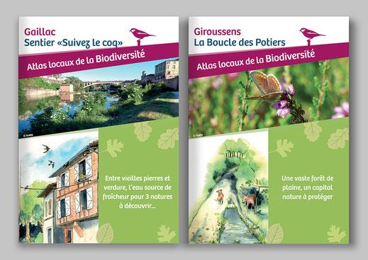 livret pédagogique, atlas de la biodiversité communal, ABC, ludique, nature, illustration, sentier