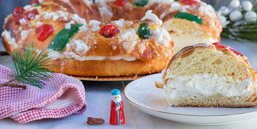 Roscón de Reyes (Dreikönigskuchen)