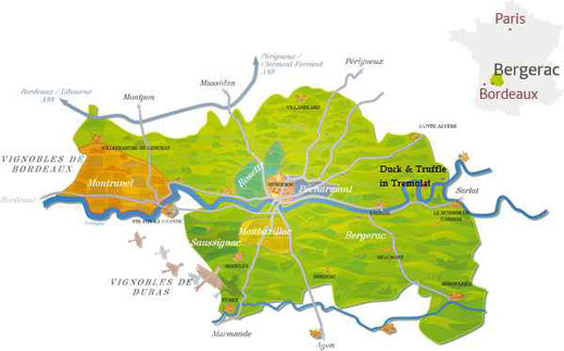 Dordogne wine tours of the Bergerac vineyards
