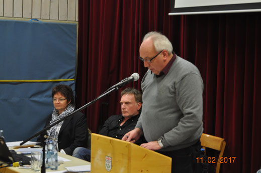 Versammlungsleiter und Vorsitzender Herbert Jung