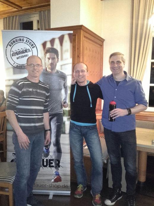 von links: Bernd Grafe, Frank Queißer und Torsten Menn