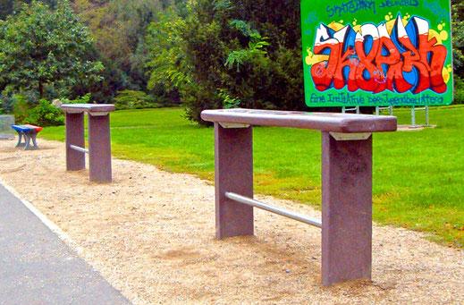 Skaterbank Collodi aus Recycling Kunststoff