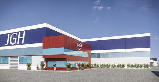 Infografía 3D nave industrial Madrid